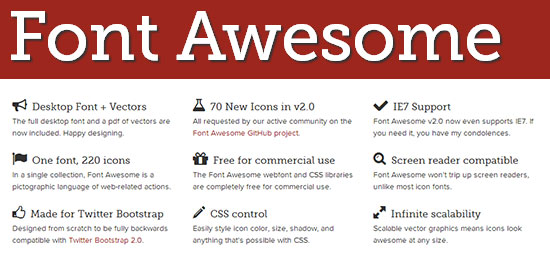 Font Awesome Icons for Bootstrap Example Guide